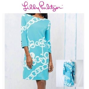 Lilly Pulitzer Shorely Blue Ball and Chain Dress